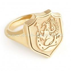 Ювелирный перстень с фамильным гербом