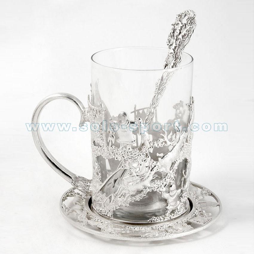 Копия Стакан с подстаканником серебро
