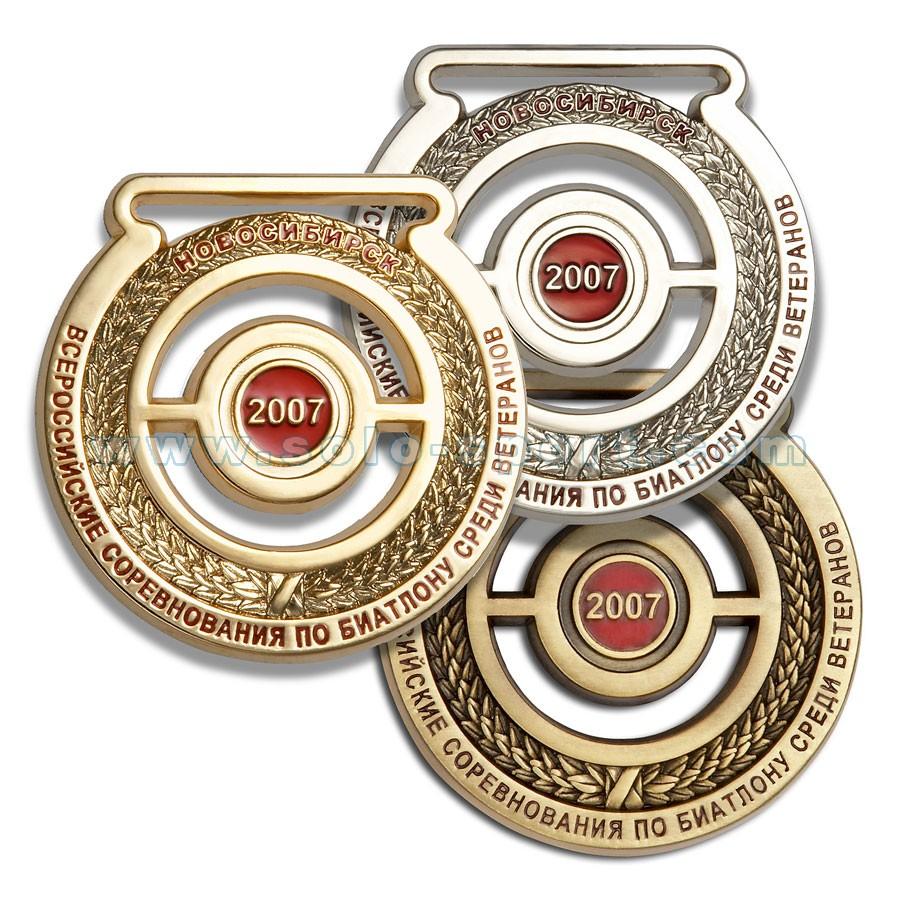 Медаль Всероссийские соревнования по биатлону